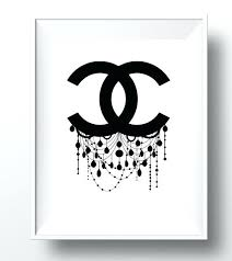 chanel wall art canvas ingenious wall art house interiors logo decor chandelier by canvas