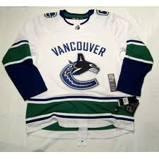 Vancouver Canucks Size 60 3xl Adidas Hockey Jersey Climalite Authentic Away