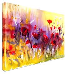 large canvas wall art poppies sun wash by water colour art canvas prints canvas art