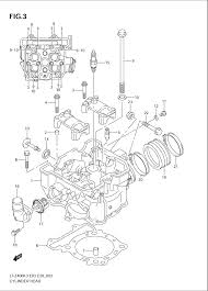 2004 suzuki lt z400 quadsport cylinder head parts best oem cylinder head parts diagram for 2004 lt z400 quadsport motorcycles