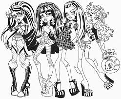 Small Picture Coloring Pages Monster High Coloring Pages Free Printable