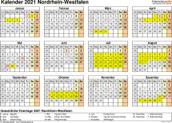 Kalender 2016 auch zum ausdrucken auf a4. Kalender 2021 Nrw Ferien Feiertage Pdf Vorlagen