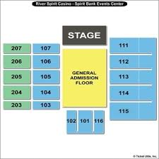 Rivers Casino Event Center Seating Chart River Spirit Casino Seating Chart Slots And Poker