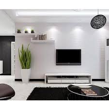 10 M Baksteen Patroon 3d Witte Textuur Niet Geweven Massaal Behang