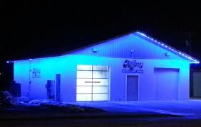 outdoor led strip light install at carwash