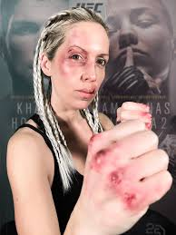 bruised up fighter makeup using snazaroo face paint and mehron bruise wheel