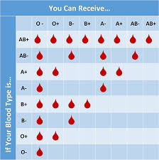 Blood Types And Donation Chart January Is Blood Donor Month