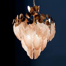 exclusive italian murano glass leaves designer chandelier