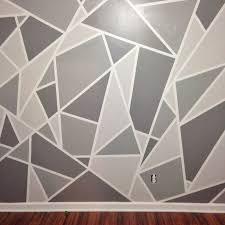 Paint Design For Walls Stunning Project Nursery V 1 A Geometric Mosaic Wall  In Grey Ombre Home Ideas 19