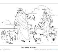 Small Picture Abraham Coloring Page Printable God Guided Abraham