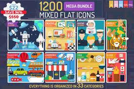 3 pure css ios icons. 1200 Mixed Flat Icons Mega Bundle Vol 1 126091 Icons Design Bundles