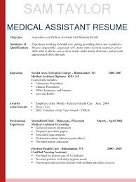 How To Make A Medical Assistant Resume Resume Cover Letter Medical Assistant Hhrma Job Career