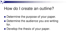Research Paper The Outline Ppt Download