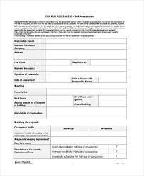 Fire Risk Assessment Form Template 6 Fire Risk Assessment Templates ...