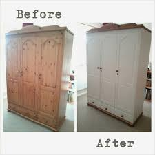 Captivating How To Paint Pine Bedroom Furniture Rejenerate Pine Wardrobe Annie Sloan  Chalk Paint Old White Colour
