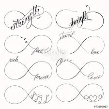 Popular Infinite Tattoo Set Stock Image And Royalty Free Vector