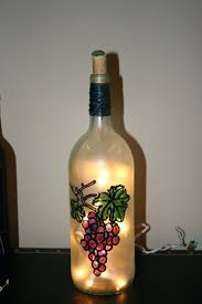 stained glass wine bottle best craft ideas images on wine bottle lamps wine  hand painted stained . stained glass wine bottle best wine bottle lamp ...