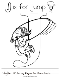 Free Letter J Coloring Pages Colouring In Beatiful Letter J ...