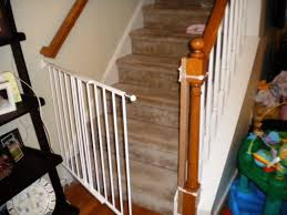 baby gate for bottom of stairs with railing  retractable baby