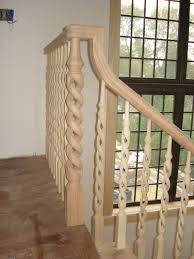 fully custom wooden stairs and railings