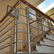Metal handrails for stairs Handrail Indoor Stainless Steel Stair Railing Indiamart Stainless Steel Stair Railing Ss Railings सटनलस