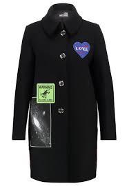 Women Coats Love Moschino Classic Coat Nero Moschino Boots