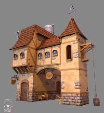 set medieval fantasy house 3d 3ds