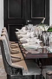 plush dining room chairs lovely elegant clic contemporary dining room in subtle tones grey