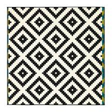 black and white diamond rug. lappljung ruta rug, low pile black and white diamond rug t