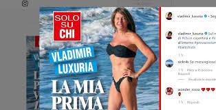 Vladimir Luxuria prima volta in bikini sulla cover di Chi (FOTO)