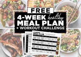 4 week healthy meal plan with grocery