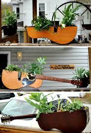 Repurpose Guitar Planter Ideas