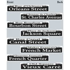 New Orleans Street Signs Decorations Mardi Gras Street Sign Cutouts 100 [5750100] MardiGrasOutlet 2