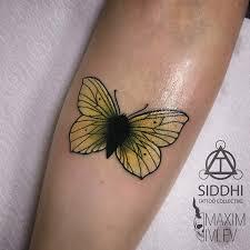 татуировки бабочка в стиле олдскул ньюскул цветная женские