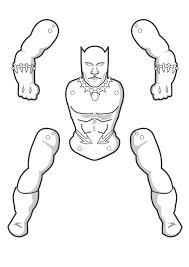 Kleurplaat Marvel Toilet Black Panther Paper Puppet Paper Puppets