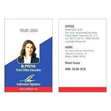 Id Card Templates Free Photo Id Card Template