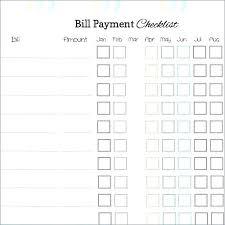 Bill Organizer Sheet Bill Pay Template Monthly Planner Snowball Free