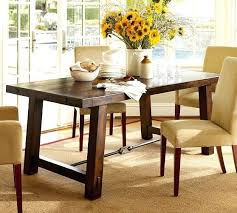 dining table pottery barn extending round