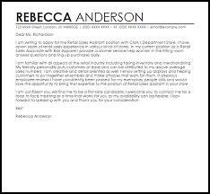 How To Write A Cover Letter For Retail Assistant Chechucontreras Com