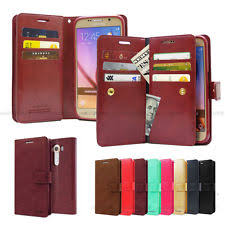 goospery diary double flip book leather wallet case cover for iphone galaxy lg
