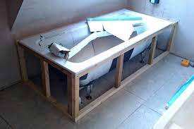 making a solid bath panel stud work frame