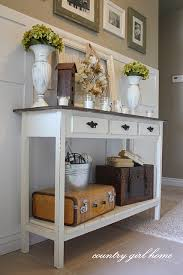 front hallway table. Entry Way Table - Welcoming Decor: 5 Great DIY Tables With Tutorials Front Hallway N