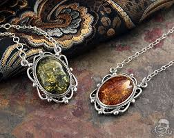 silver and victorian baltic amber necklace