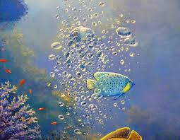 biz original art underwater harmony oil painting on canvas