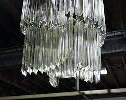 rhys clear glass prism rectangular chandelier mid century at 3 murano home improvement marvelous