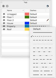 In sketchup, the tags panel has dash patterns so you can change entity lines on a tag from solid because you select dash patterns in the tags panel, it's helpful to think about how to apply when you draw your model, draw on untagged and create groups or components as you normally would. Applying Dashed Lines To Tags Sketchup Help