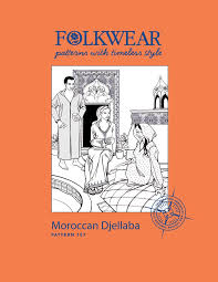 Folkwear Patterns Mesmerizing Folkwear 48 Moroccan Djellaba