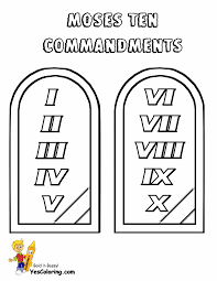 10 Commandments Coloring Pages Wumingme
