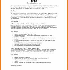 executive summary example business strikingly sample executive summary for resume unthinkable example