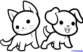 cute animals clipart black and white. Exellent White Cute Drawings Of Animals Free Download Clip On Animals Clipart Black And White I